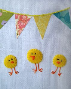 Hand stitched party card!