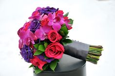 bold rose, orchid, lisianthus
