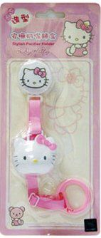 Hello Kitty Baby Pacifier Leash Holder Strap with Cover (No Metal Clips for Safety)