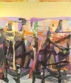 "Amy Sillman, ""Flower Giver"", 2005, Oil on canvas, 84"" x 72"""
