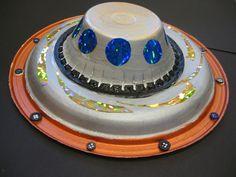 Preschool Crafts for Kids*: Paper Plate Flying Saucer U.F.O. Space Craft 2