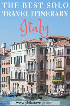 The Best Solo Travel Itinerary for Solo Travelers to Italy - from a Seasoned Italy Traveler. Italy is meant to be savored through the seaside views, leisurely meals, local wines from each region and getting lost in the city. Click through to find out my best of Italy Solo Travel Itinerary to help you plan your solo trip to Italy. | PhilaTravelGirl #italy #solotravel #itinerary #italyitinerary