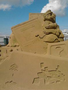 Mario en sable