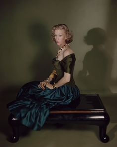 Millicent Rogers.  Photo by Horst P. Horst.  Vogue, February 1, 1949.