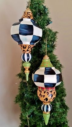 hand painted large ornaments