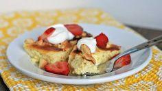Lemon-Vanilla Yogurt Cake with Almonds and Strawberries   Girl Cooks World