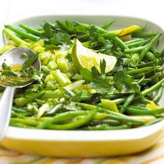 Green Bean Salad - Lime juice, salt, and black pepper enhance the flavor of fresh green beans in this 15-minute side dish.