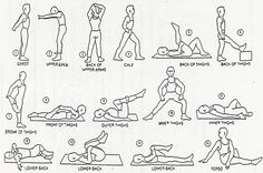 players must be ready for the harsh practices. proper stretches must be preformed. I would use some of the stretches here as a basis. Google Image Result for http://chiropam.com/wp-content/uploads/2010/09/everyday-stretches.jpg