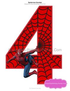Superhero Number Centerpiece - Large number clipart, great for centerpieces, party decorationsand birthday shirt. - Visit to grab an amazing super hero shirt now on sale! Spiderman Party Supplies, Spiderman Theme Party, Superhero Birthday Party, Man Birthday, Fête Spider Man, Spiderman Cake Topper, Spiderman 4, Fourth Of July Crafts For Kids, Birthday Party Centerpieces