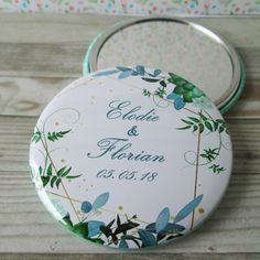 b207b217e9d5 Miroir de poche personnalisé avec un visuel au choix - cadeau invité mariage