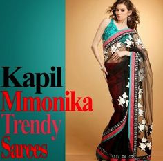 Kapil and Mmonika Trendy Sarees For Formal Wear - Fashion Guru - All in One Wallpaperss - All in one Wallpaperss