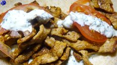 Gyros and Tzatziki - by Nicholas Ross at duck and roses.  This is made with boneless pork loin but  just like in Chinese Char Sui turkey tenderloins will work quite nicely as well.