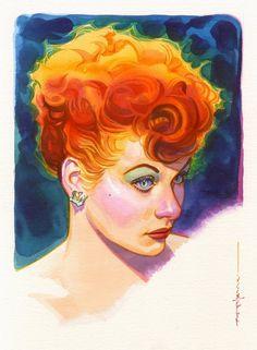 Lucille Ball by Brian Stelfreeze *