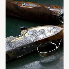 A Beretta SO Sparviere, with more than six hundred hours' worth of engraving.