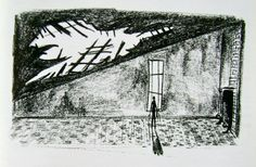 Tim Burton; drawing of Edward Scissorhands