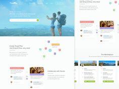 Dribbble - Travel Plan Homepage by Dwinawan Hariwijaya
