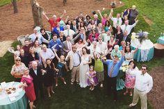 large lake norman wedding group photo
