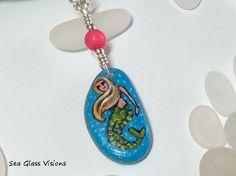 Mermaid Jewelry Sea Glass Pendant Beach Glass by SeaGlassVisions