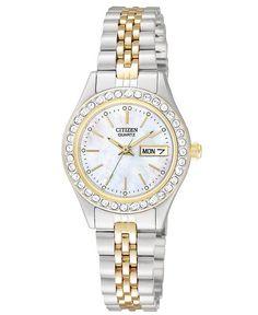 Citizen Quartz two tone EQ0534-50D Citizen Watches 7cfc667b450