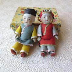 Japanese Bisque Porcelain Jointed Dolls Asian by stonebridgeworks
