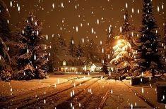 christmas-houses-road-snow-snowing-Favim.com-249590.jpg (500×330)