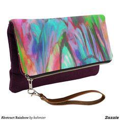 Abstract Rainbow Clutch #bag #purse