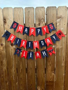 Excited to share this item from my shop: Spider-Man Happy Birthday Banner Happy Birthday Spiderman, Spiderman Theme Party, Superhero Birthday Party, Mickey Mouse Birthday, Man Birthday, 2nd Birthday Parties, 1st Birthdays, Diy Birthday Banner, Birthday Party Decorations Diy