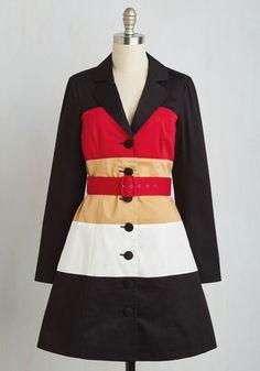 1960s mod spring coat, Colorblock Your World Coat $119.99 AT vintagedancer.com