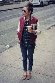 Weekend Denim Inspiration: Easy Jeans & A Varsity Jacket
