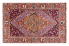"""Fabianne Rug, Mauve/Orange, hand-knotted, made in India, made of New Zealand wool, 1/2"""" pile, 8'x11' $2,875"""