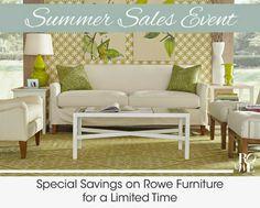 #sale #rowefurniture #hildrethshomegoods  Sale on all upholstery ends July 4th!