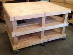 Woodworking Plans - Mobile Workbench by PRATTinnovation on Etsy, $10.00
