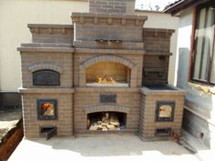 Adorable Vintage Outdoor Fireplace Designs Ideas With Barbecue Stuff To Try Pizza Oven Fireplace, Stove Fireplace, Outside Living, Outdoor Living, Parilla Grill, Barbecue, Brick Bbq, Outdoor Fireplace Designs, Four A Pizza