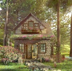 Asian decor Little cottages in the woods, Little cotta. - Asian decor Little cottages in the woods, Little cottages plans, Little c - Cute Cottage, Cottage In The Woods, Cottage Plan, Cottage Homes, Cottage Style, Little Cottages, Cottages By The Sea, Stone Cottages, Fairytale Cottage