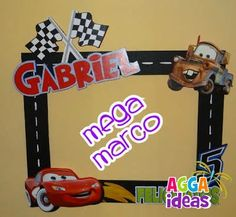 frame for photos Lightning Mcqueen Party, Hot Wheels Party, Race Car Birthday, Race Car Party, 3rd Birthday, Disney Cars Party, Disney Cars Birthday, Car Themed Parties, Cars Birthday Parties