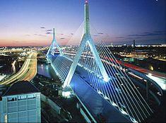 Boston Zakim Bunker Hill Memorial Bridge is a spectacular sight.  Boston is full of history and offers great tours to get you around the freedom trail!
