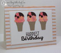 card ice cream icecream cone SU Cool Treats CAS Birthday sweet treats, you´re the coolest