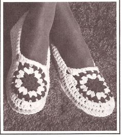 free crochet slipper pattern -  www.crochet4you.com
