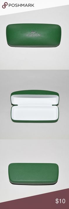 New LACOSTE Eyeglasses Sunglasses Clam Shell Case Brand: Lacoste Item name: Eyeglasses / Sunglasses Clam Shell Case Condition: Brand new. Maesurements: L 6.25, W 2.5, H 1.25 Please check your eyeglasses/sunglasses measurements for proper fit before purchasing. Lacoste Accessories Sunglasses