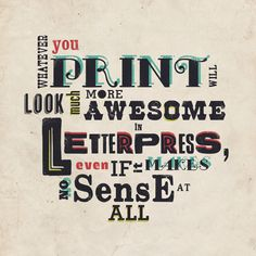 Thoughts about Letterpress