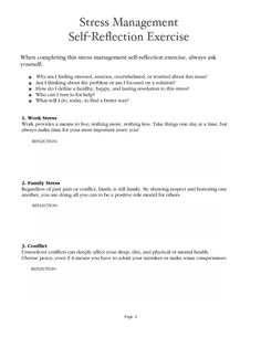 stress management worksheets | Stress Reduction Action Plan ...