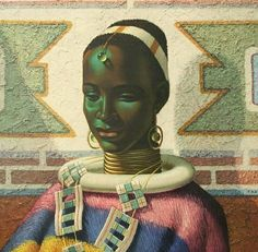 Ndebele Queen! Art by Vladimir Tretchikoff. Photo via @thepanafrican  ______ #Osengwa | #AfricanArt | #AfricanFashion | #AfricanMusic | #AfricanStyle | #AfricanPhotography | #Afrocentric | #Melanin | #African | #Art | #AfricanInspired | #InspiredByAfrica | #BlackIsBeautiful | #ContemporaryArt | #OutOfAfrica