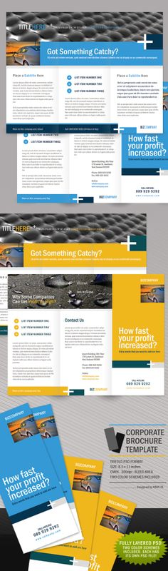 Trifold Conference Brochure Brochures, Brochure template and - advertising brochure template