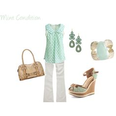 Mint Condition, created by lyndee0324 on Polyvore featuring the Stella & Dot - Capri Chandelier Earrings in Turquoise