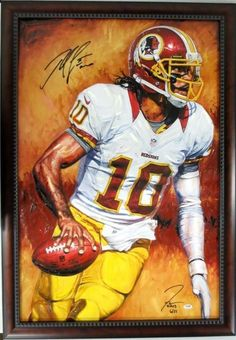 Robert Griffin III Signed Framed The Show by Justyn Farano Canvas PSA