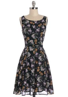 Petal Expert Dress. With your adoration for azaleas and your zeal for zinnias, youre destined to love this floral-print tank dress!  #modcloth