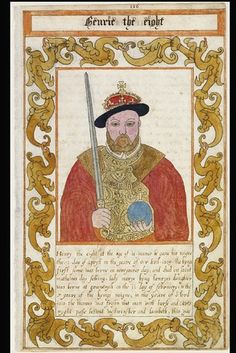 """Henry VIII in a 1608 manuscript history of England, Trevelyon's """"Miscellany."""""""