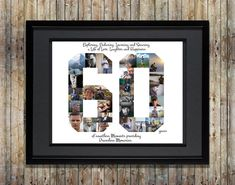 60th Birthday / Anniversary Photo Collage - 60th Birthday Gift - 60th Anniversary Gift - 60th Birthday Gift for Mom - Custom Photo Collage by ArtsyEinstein on Etsy https://www.etsy.com/listing/515596049/60th-birthday-anniversary-photo-collage