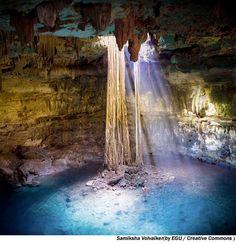 Yucatan, Mexico.   Cave Pool.