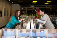 Photography: Record Shop Engagement Session